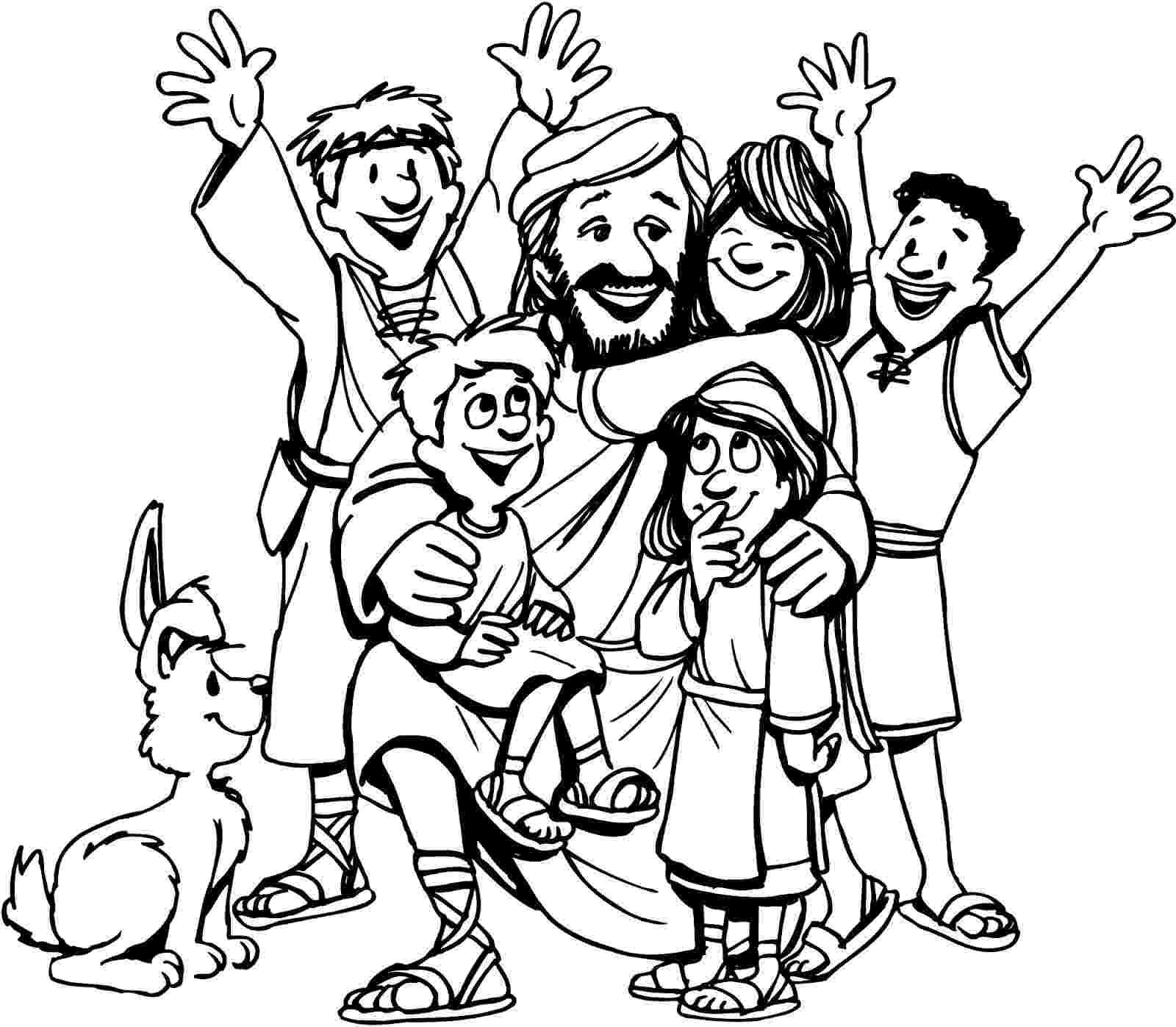 jesus and the children coloring page melonheadz lds illustrating april 2014 jesus page coloring the children and