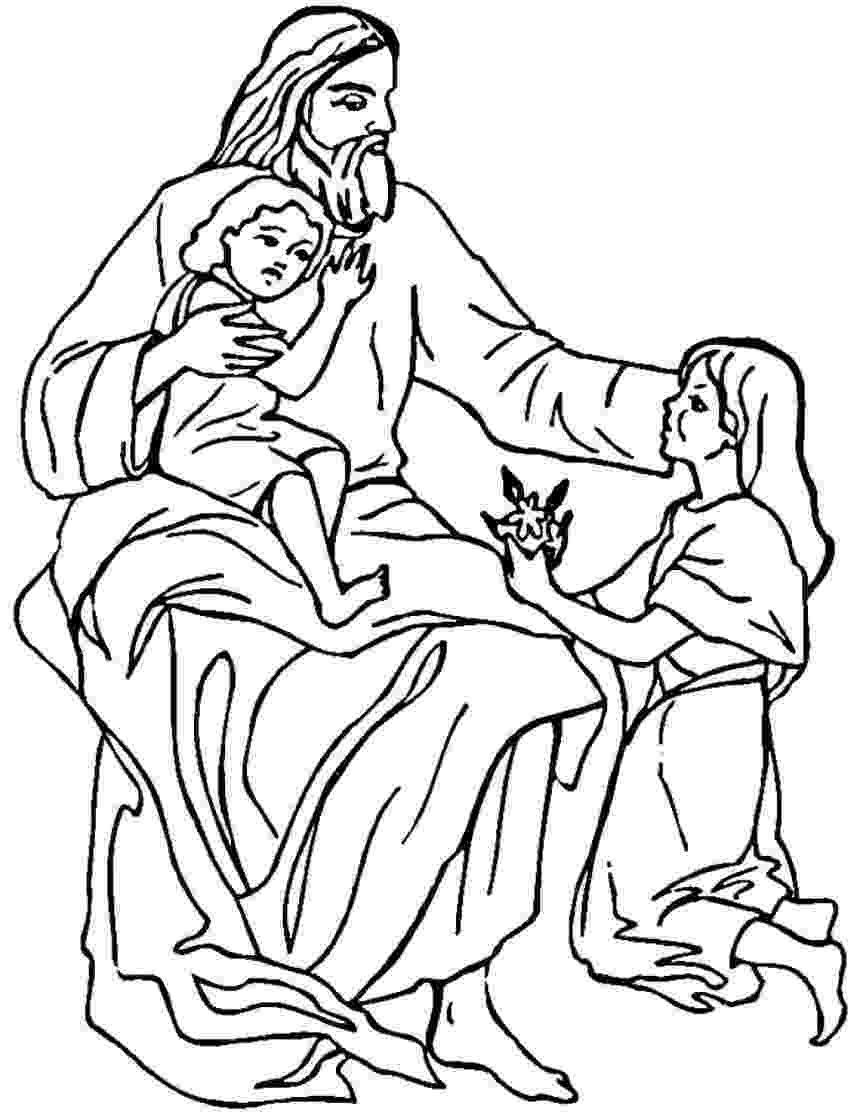jesus and the children coloring page quotpreaching the kingdom of godquot acts 2816 31 children page and jesus coloring the