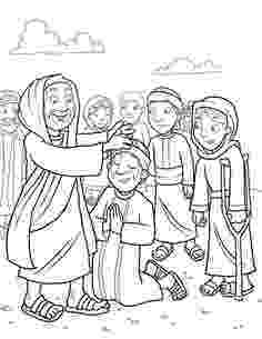jesus heals a leper coloring page 1000 images about bible jesus heals lepers on pinterest page leper jesus coloring heals a