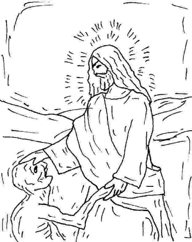 jesus heals a leper coloring page jesus heals the 10 lepers sunday school ideas page heals leper jesus a coloring
