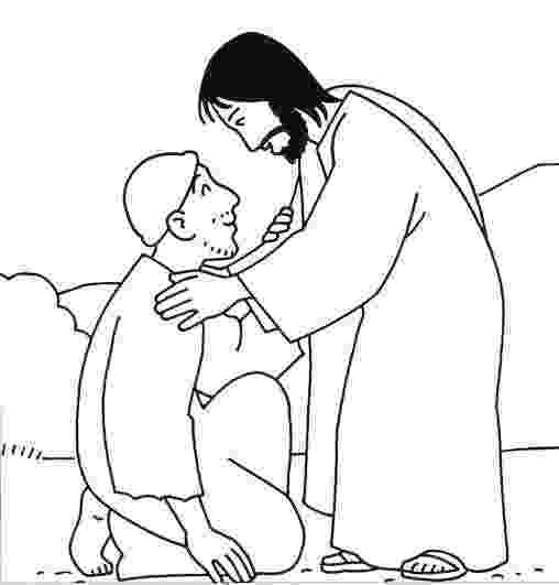 jesus heals a leper coloring page preschool coloring pages the 10 lepers google search a heals leper page jesus coloring