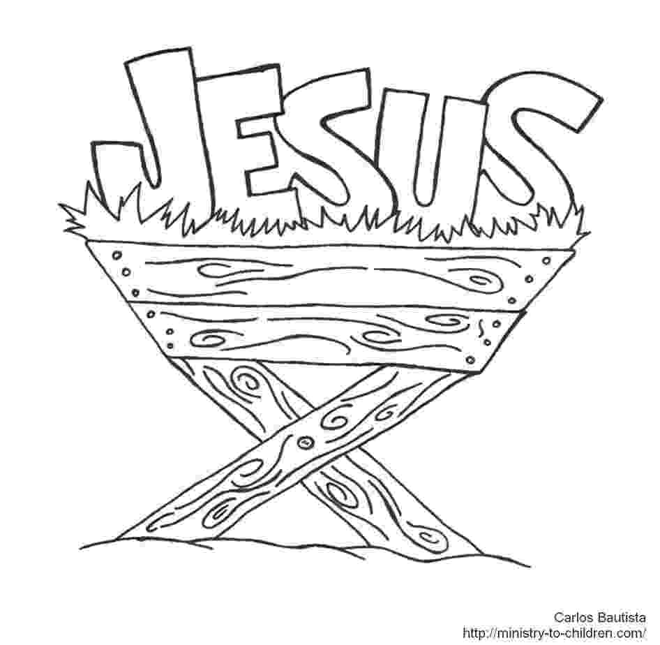 jesus in manger coloring page print coloring image momjunction applique nativity coloring in jesus manger page