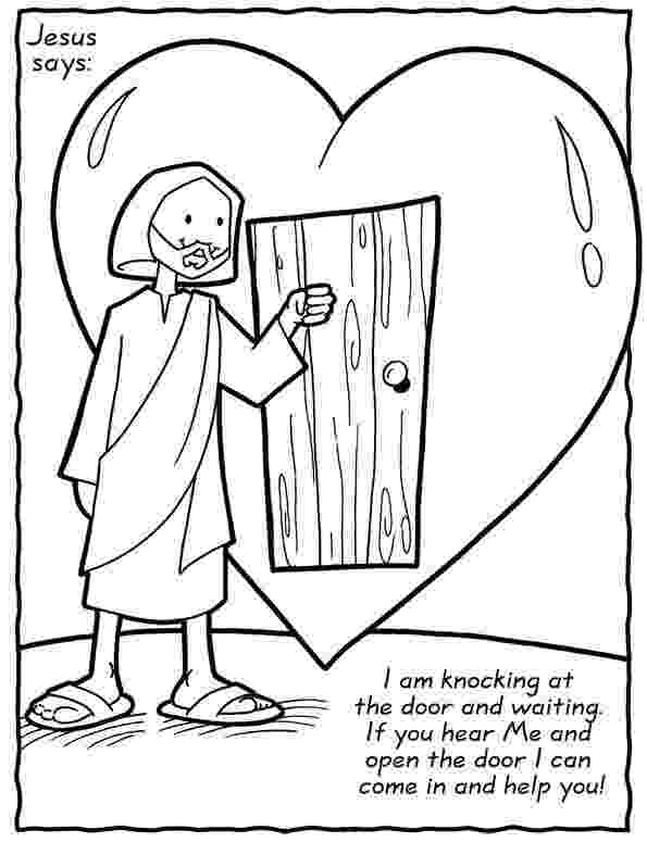 jesus knocking at the door clipart jesus loves our family coloring sheet christian at door knocking the clipart jesus