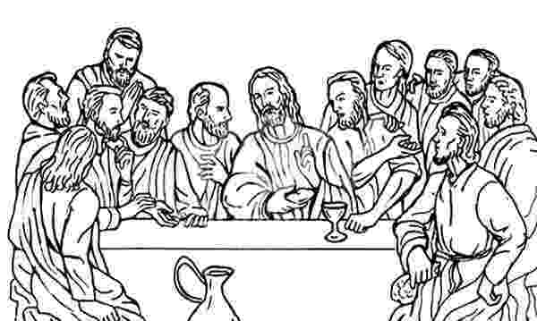 jesus last supper coloring page disciples jesus christ with 12 disciples last supper coloring last page jesus supper