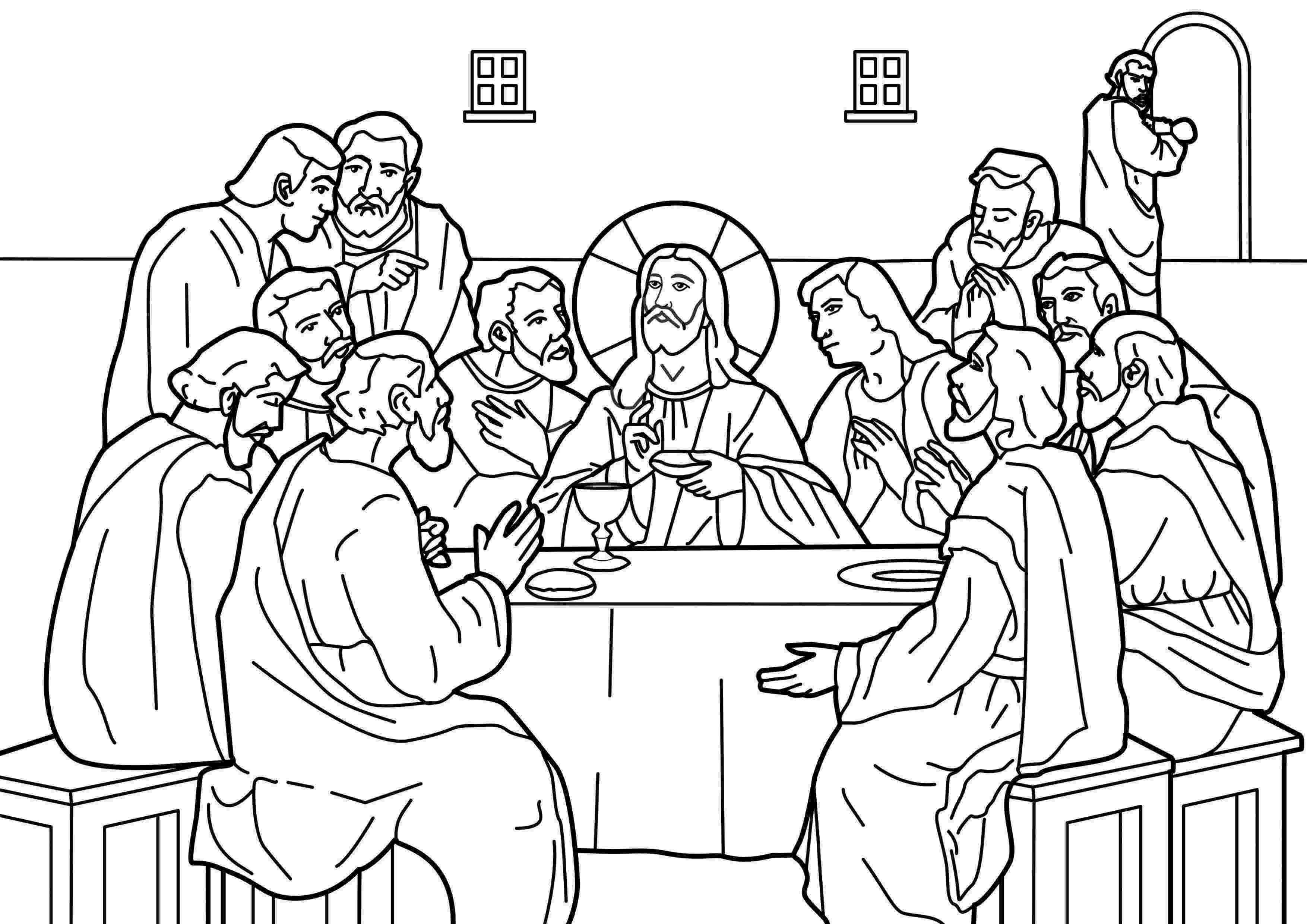 jesus last supper coloring page jesus christ coloring printable page for the last supper coloring last supper page jesus