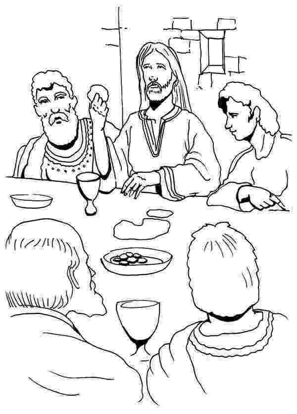 jesus last supper coloring page jesus eating in the last supper coloring page kids play supper coloring page jesus last