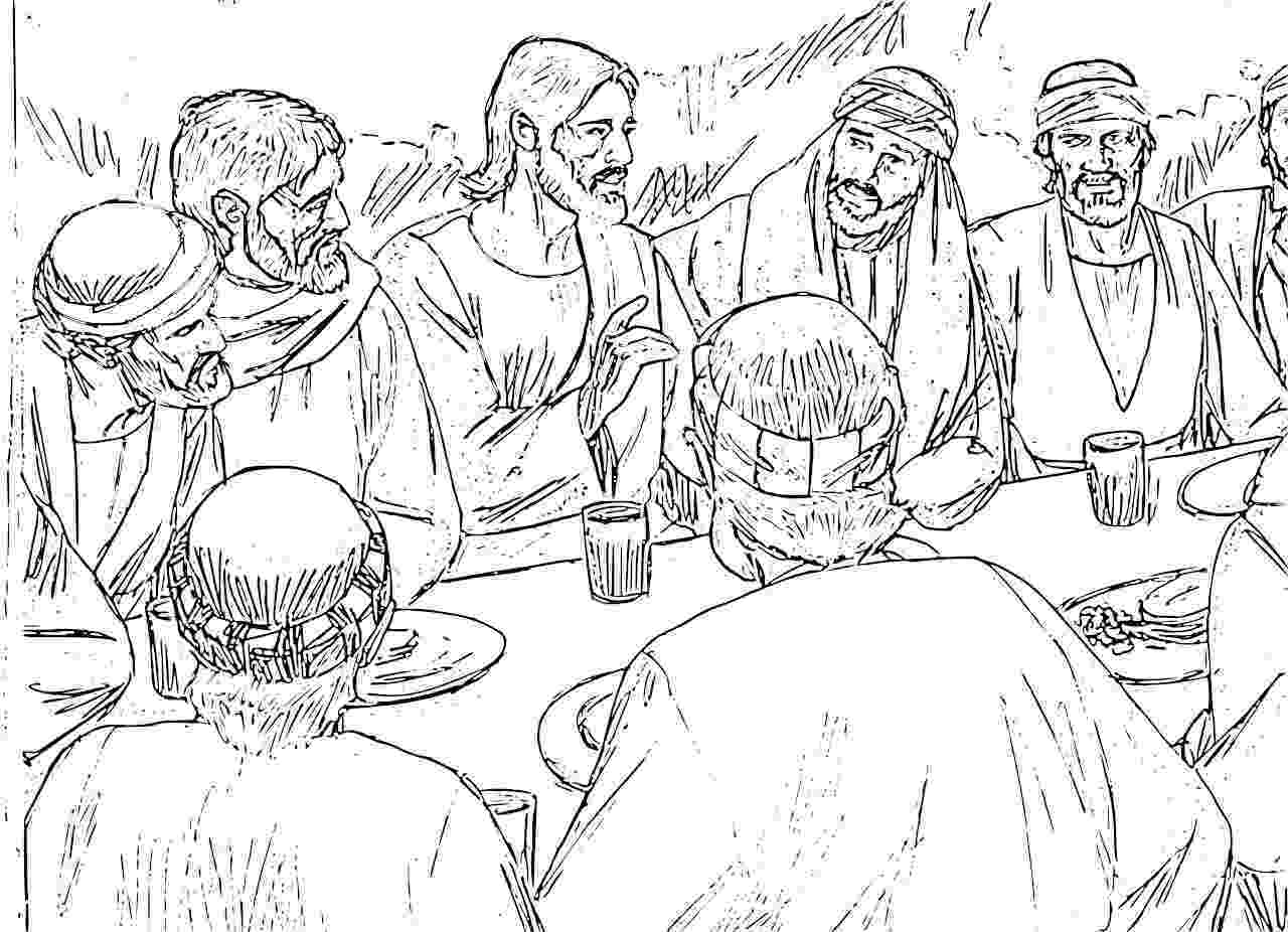 jesus last supper coloring page lords supper suppers and coloring pages on pinterest jesus page coloring supper last