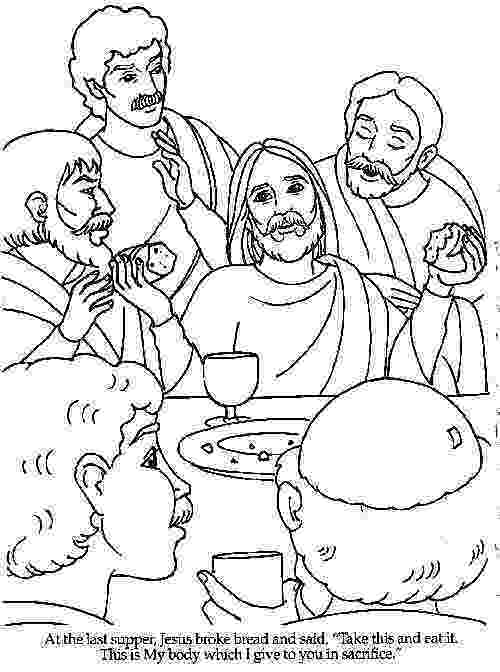 jesus last supper coloring page the last supper bible coloring pages bible palm sunday jesus coloring supper page last