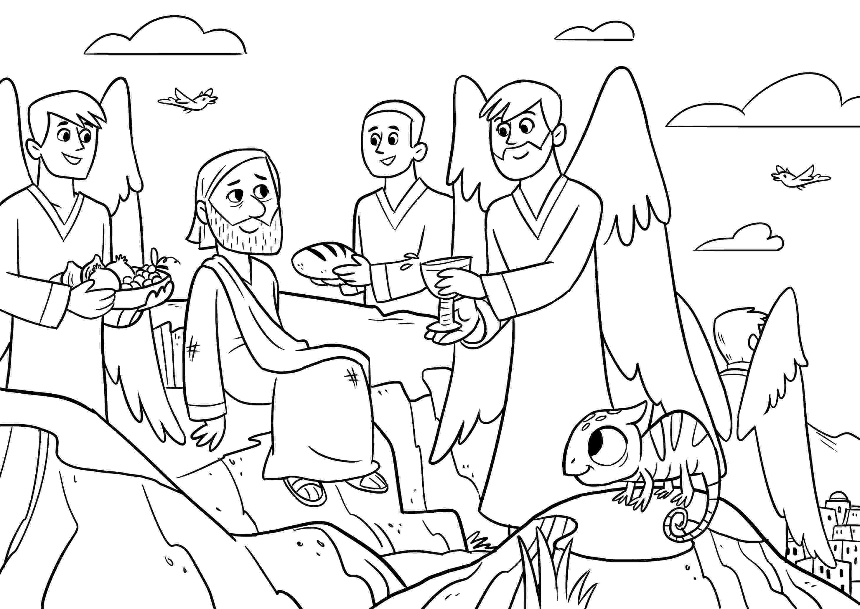 jesus temptation coloring sheet jesus temptation coloring page at getcoloringscom free temptation jesus sheet coloring
