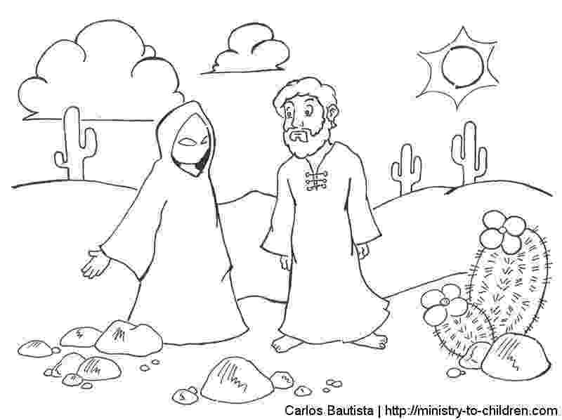 jesus temptation coloring sheet my children39s curriculum jesus39 temptation temptation coloring jesus sheet