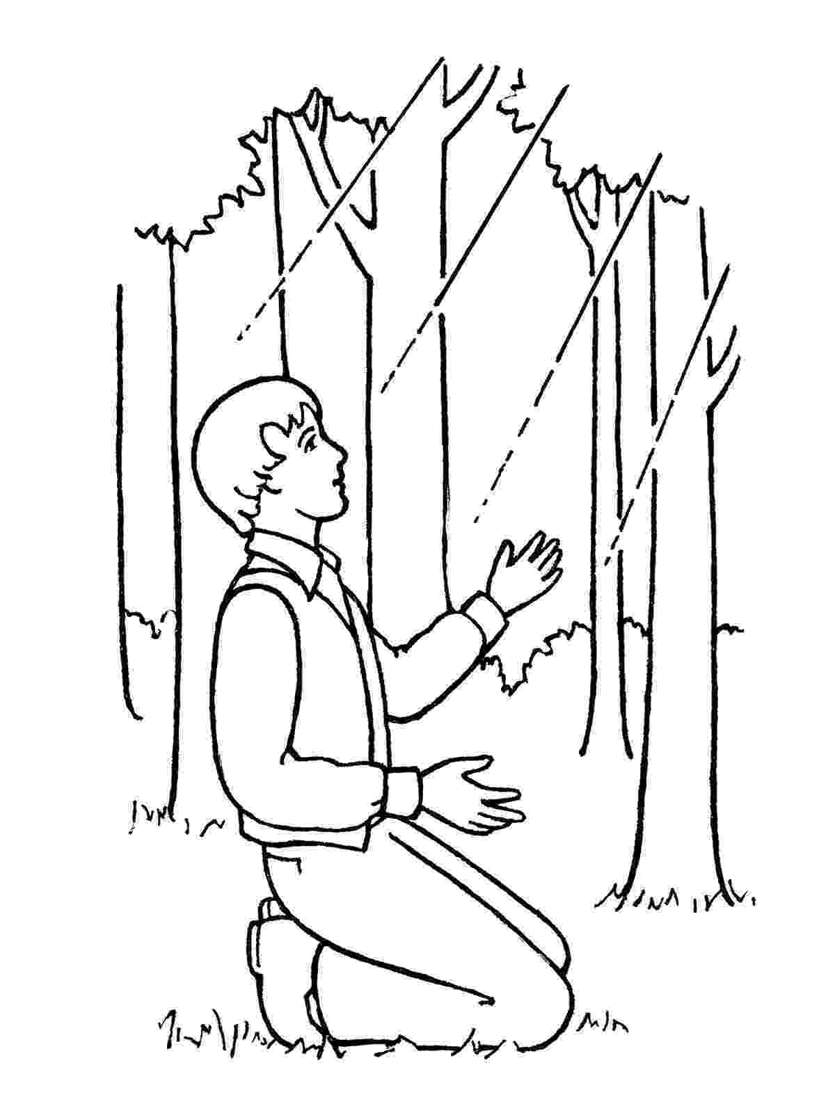 joseph smith coloring pages angel moroni visits joseph smith coloring page free coloring pages smith joseph