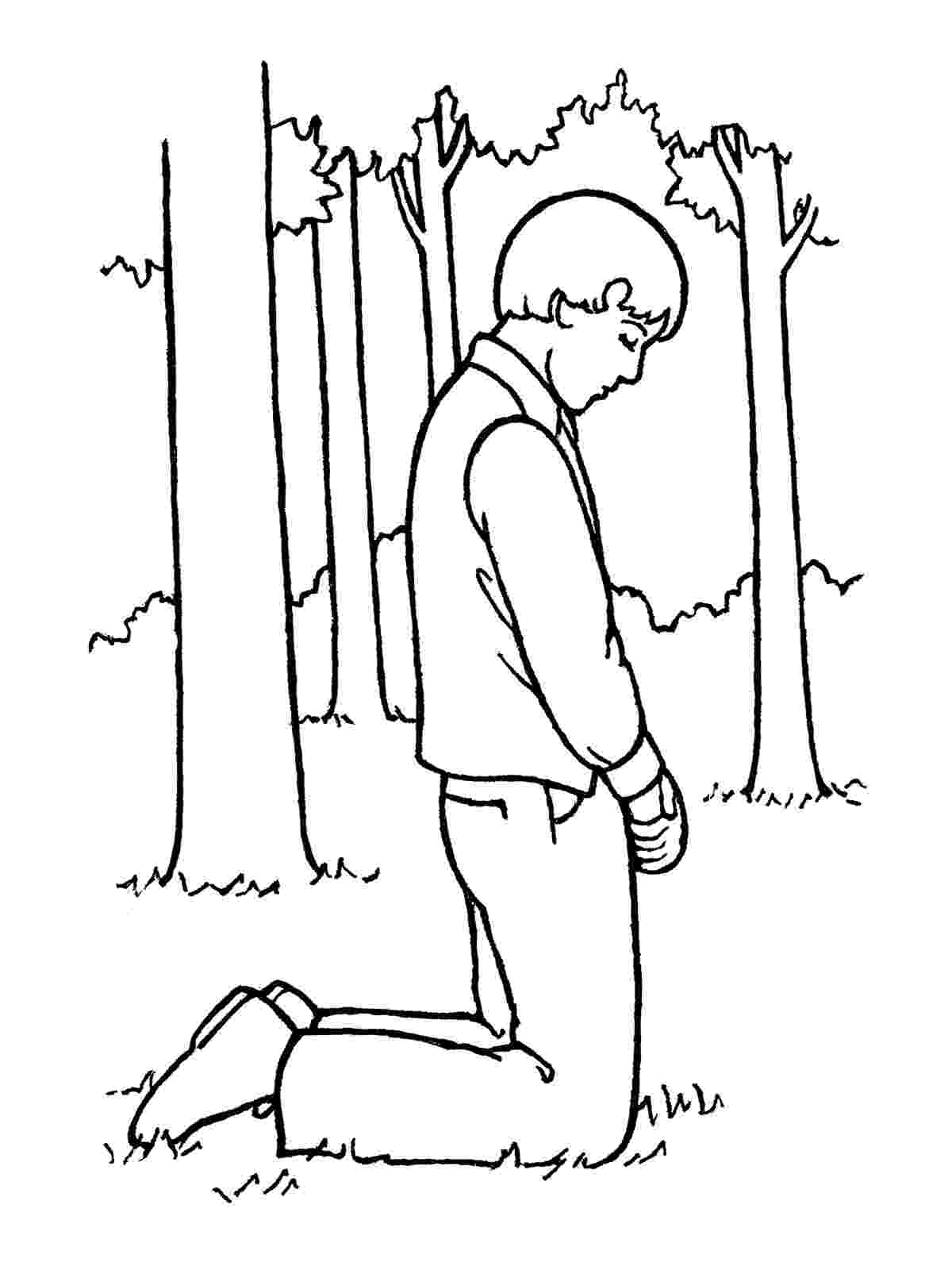 joseph smith coloring pages joseph smith praying in the sacred grove smith coloring joseph pages