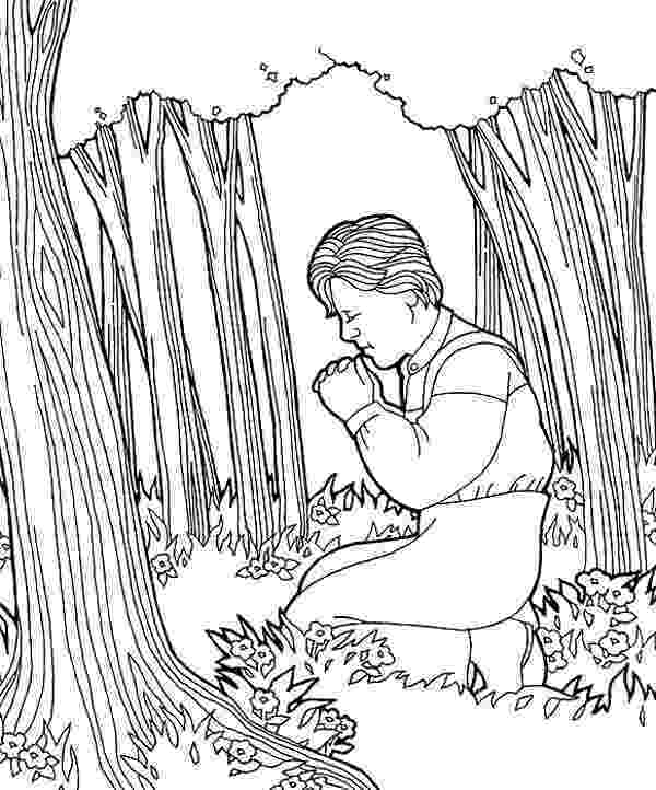 joseph smith coloring pages joseph smith sees a light overhead coloring smith pages joseph