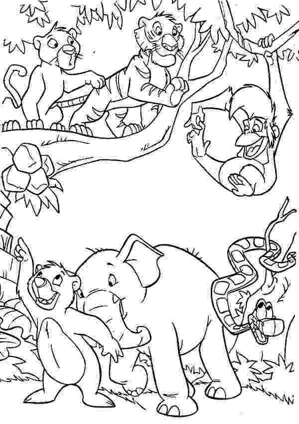 jungle animal coloring book pages jungle book coloring pages to download and print for free jungle coloring book animal pages