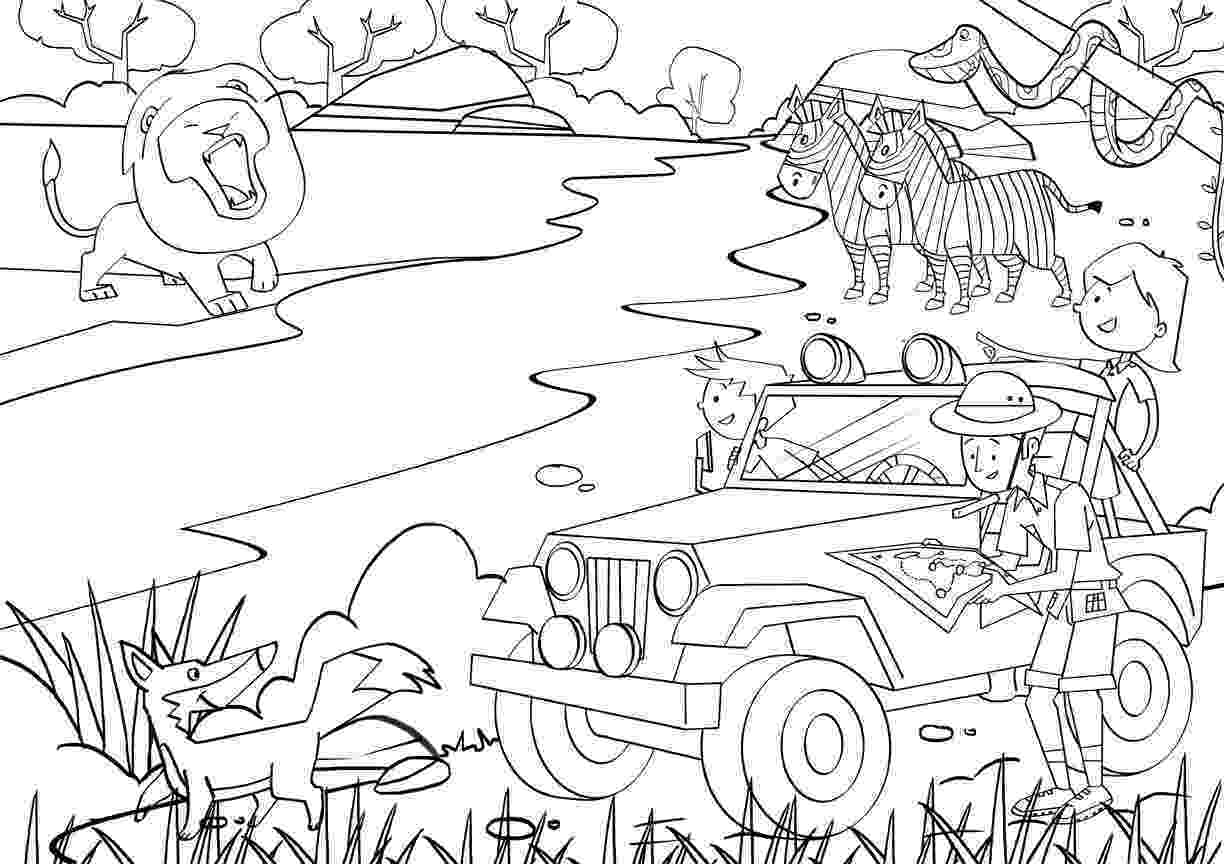 jungle animal coloring book pages jungle safari coloring pages download and print for free pages jungle book coloring animal