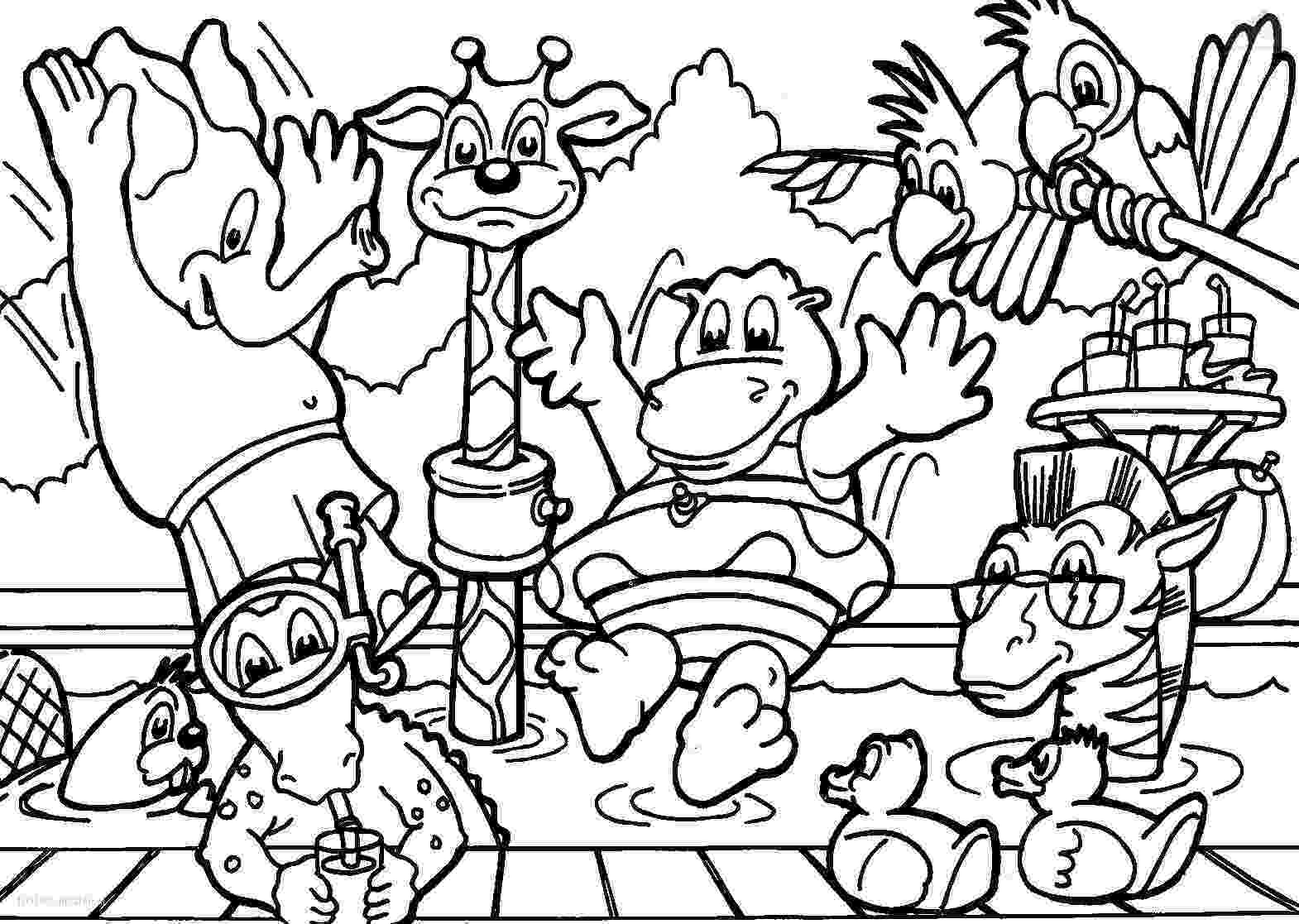 jungle animal coloring book pages the daily art of lemurkat colouring pages jungle book animal coloring pages