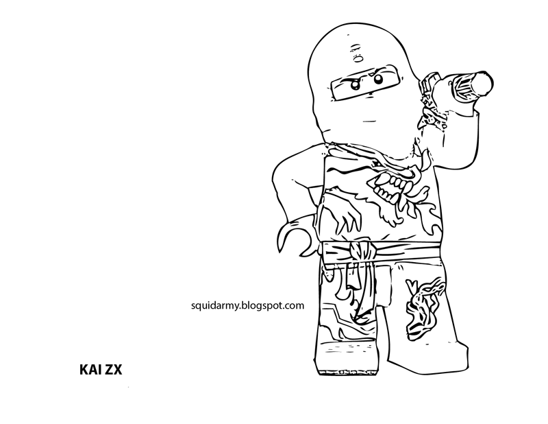 kai coloring pages lego ninjago coloring pages squid army kai coloring pages