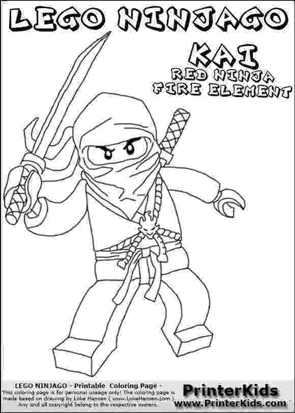 kai coloring pages lego ninjago kai with sword coloring page crafty kids pages coloring kai