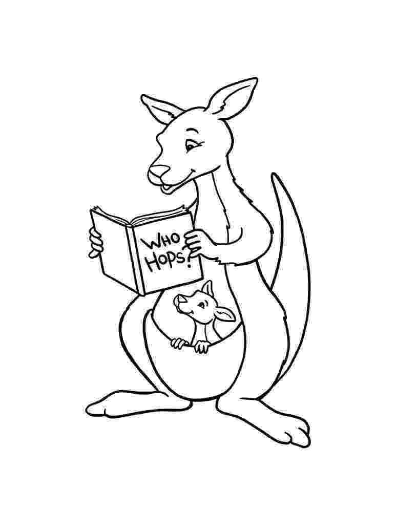 kangaroo coloring page kangaroo printables kangaroo page coloring