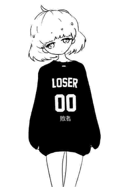 kawaii girl monochrome female dark chicas anime kawaii pinterest kawaii girl
