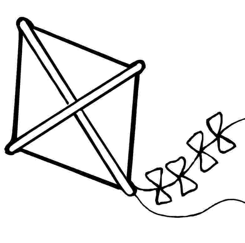 kite coloring page kites familycornercom coloring kite page