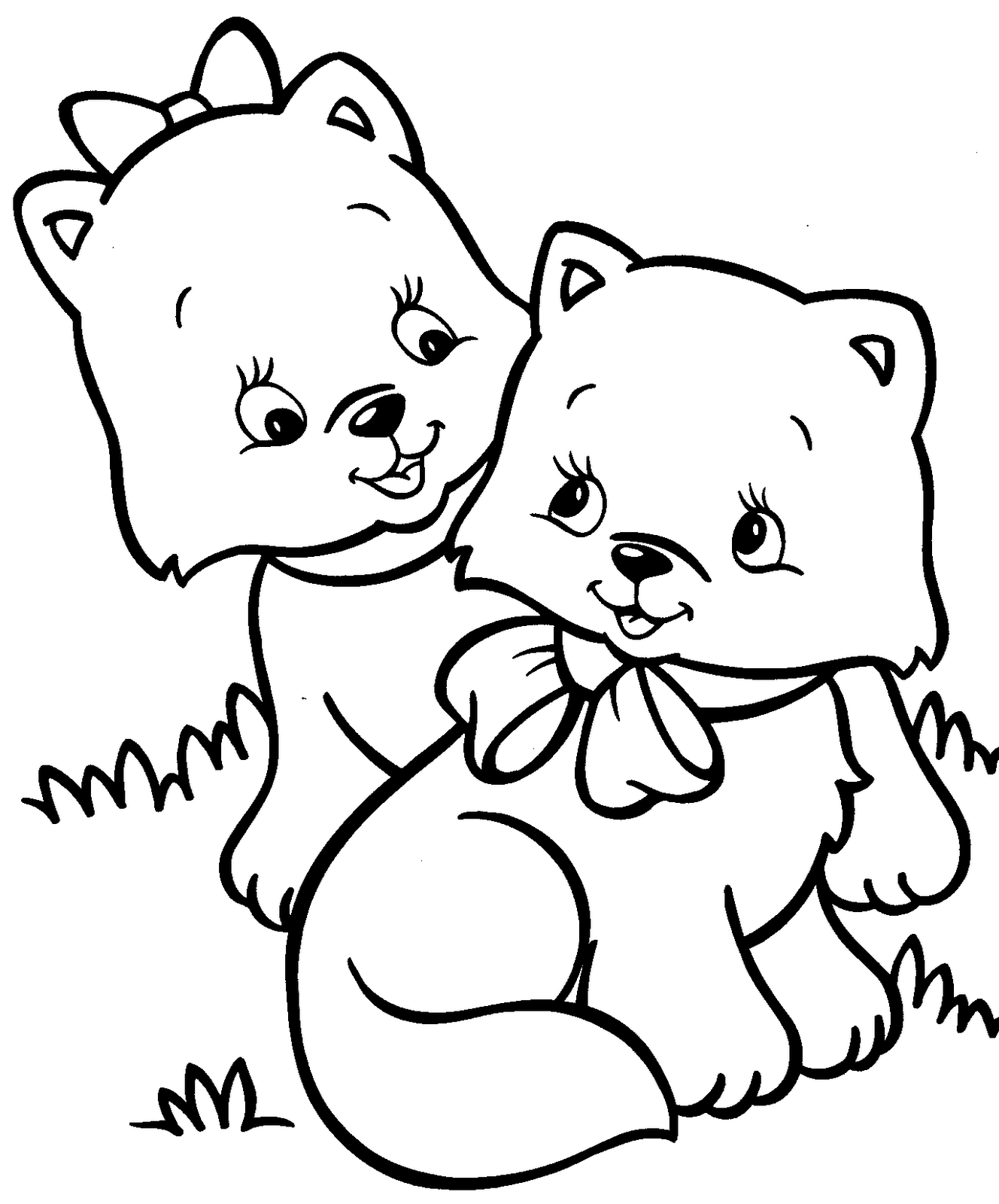 kitten color pages free printable cat coloring pages for kids kitten color pages