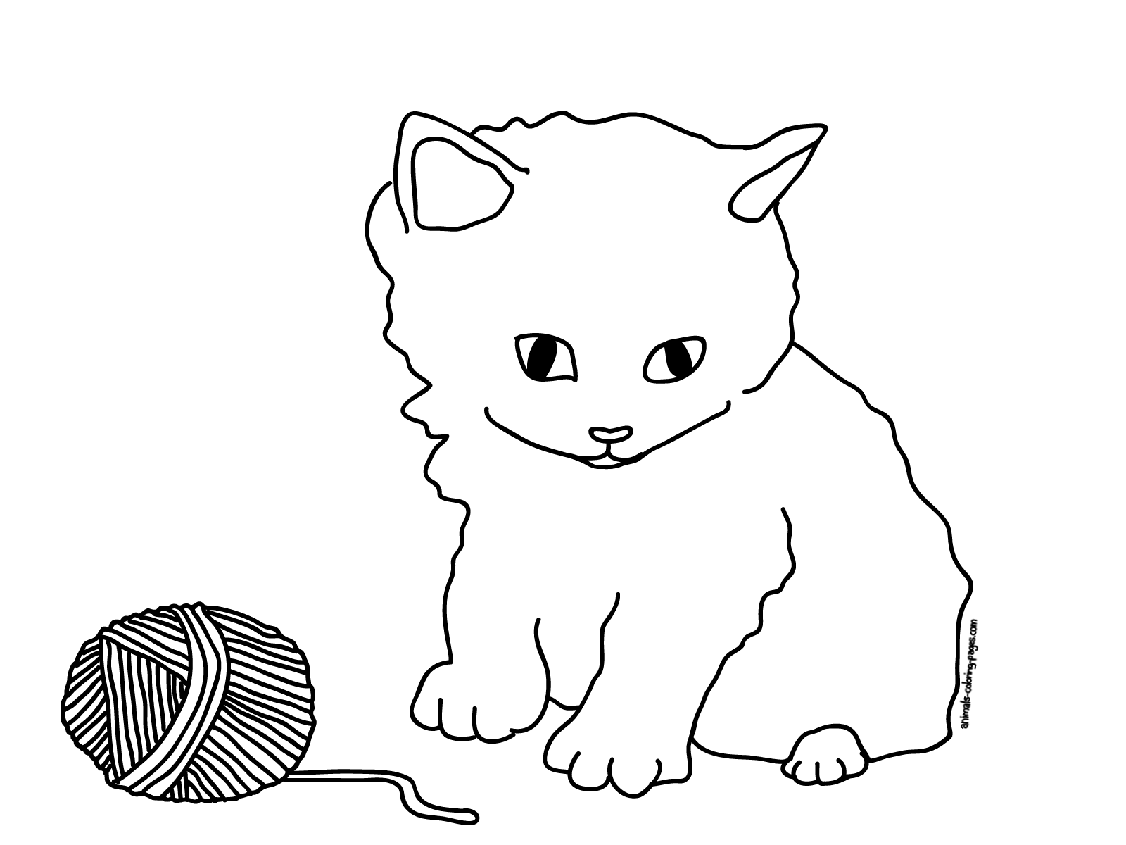 kitten color pages free printable cat coloring pages for kids kitten color pages 1 1