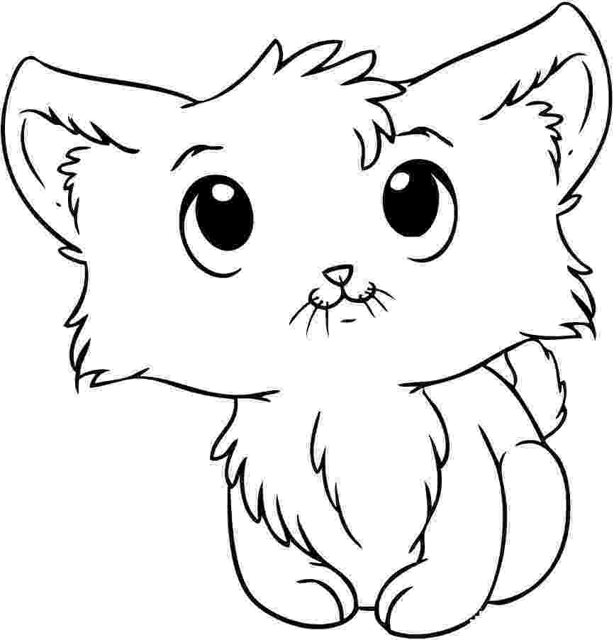 kitty cat pictures to color cat coloring page getcoloringpagescom to kitty pictures color cat