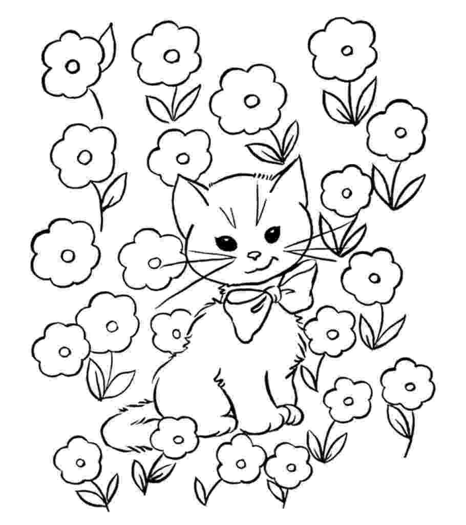 kitty cat pictures to color coloring pages cats and kittens coloring pages free and pictures color cat to kitty