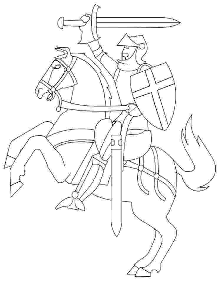 knight coloring pages coloring page knight with mace pages knight coloring