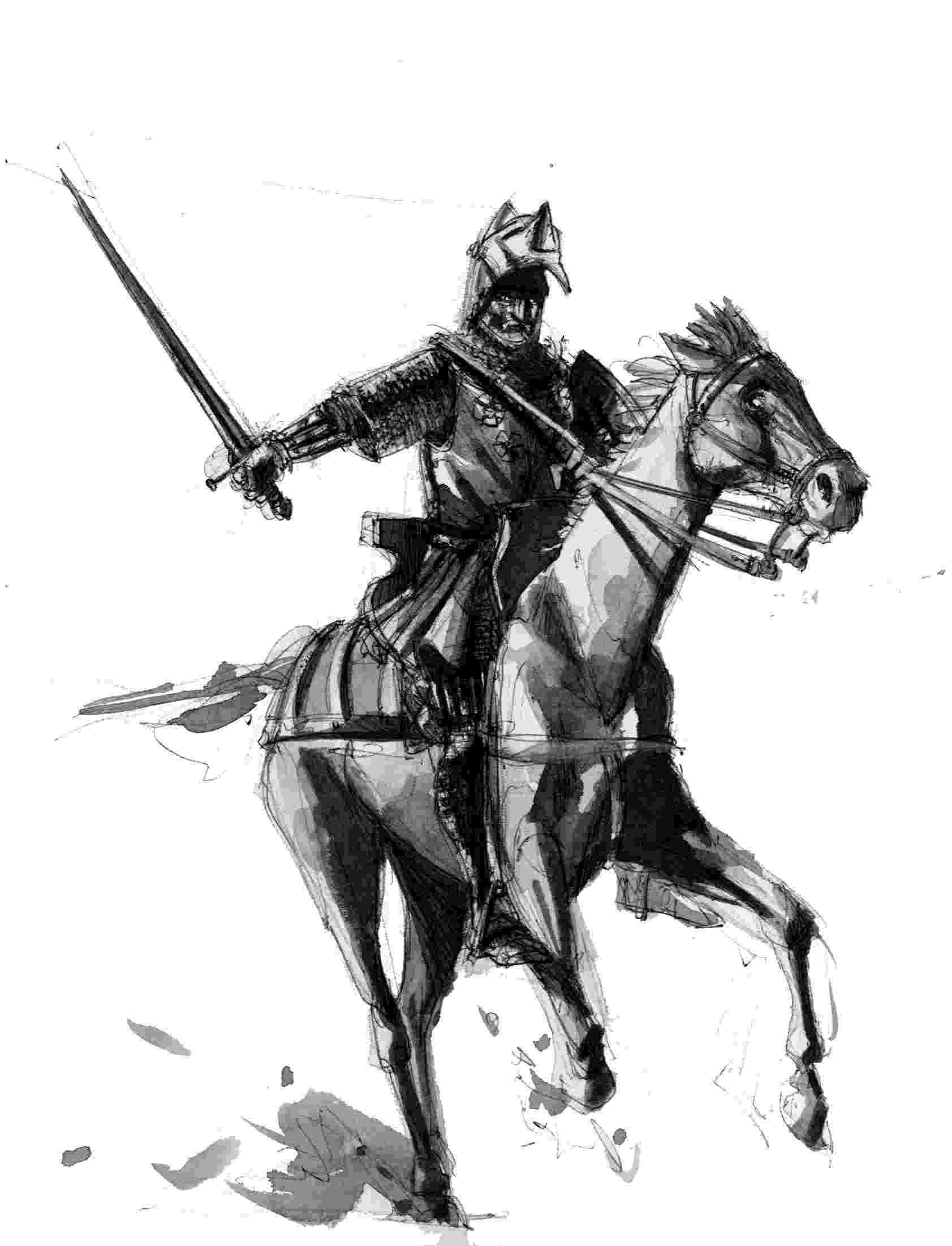 knight on horseback knight on horseback drawing at getdrawingscom free for horseback on knight