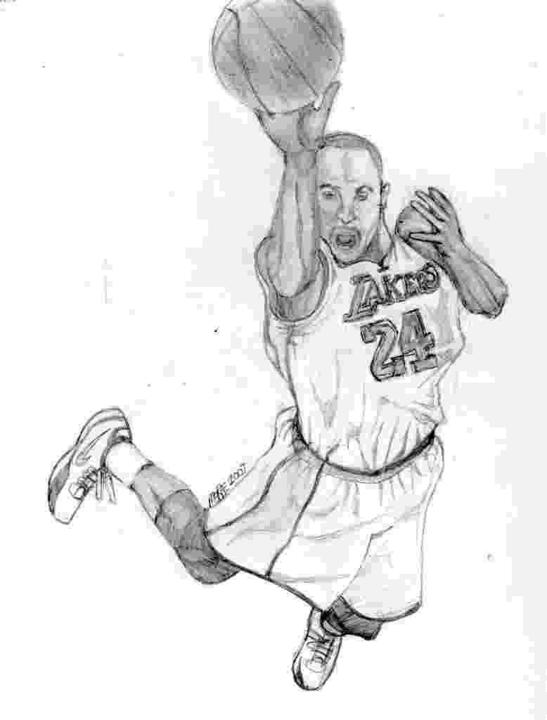 kobe bryant coloring pages allen iverson drawing at getdrawingscom free for bryant coloring pages kobe