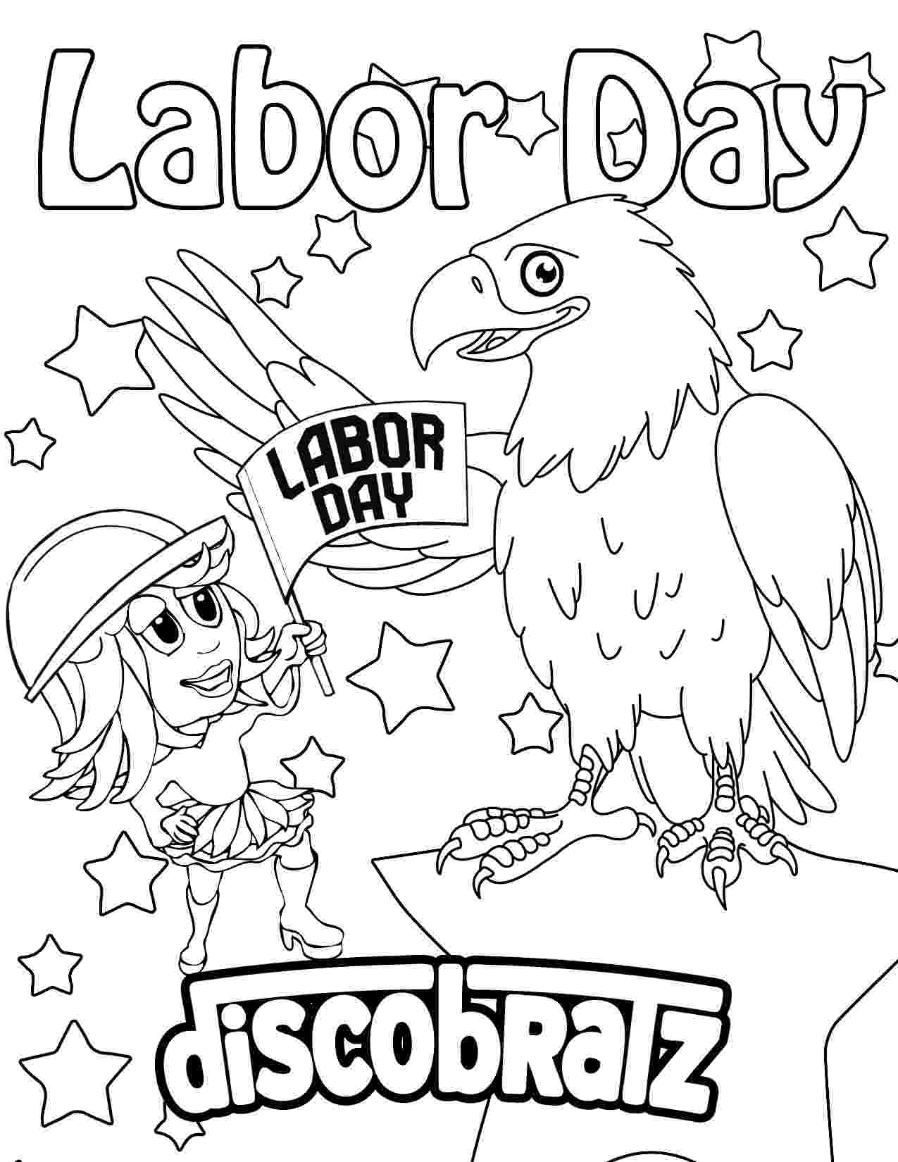 labor day coloring pages discobratz celebrates the workers of the world with a coloring labor pages day