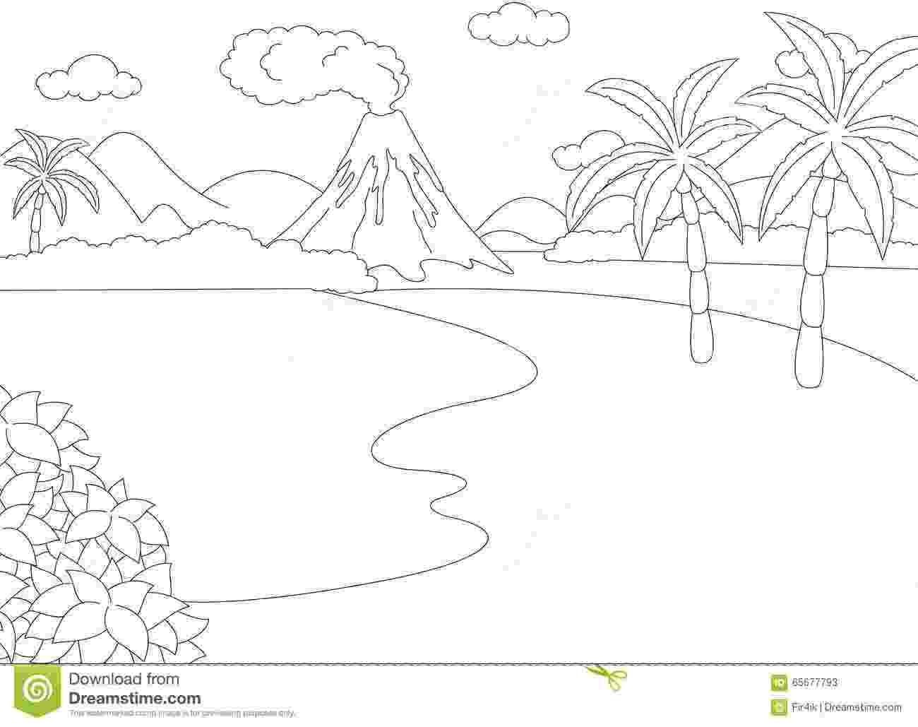 laguna para colorear eruzione vulcanica libro da colorare per i bambini para colorear laguna