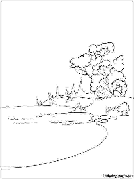 lake coloring page lake coloring page coloring page lake