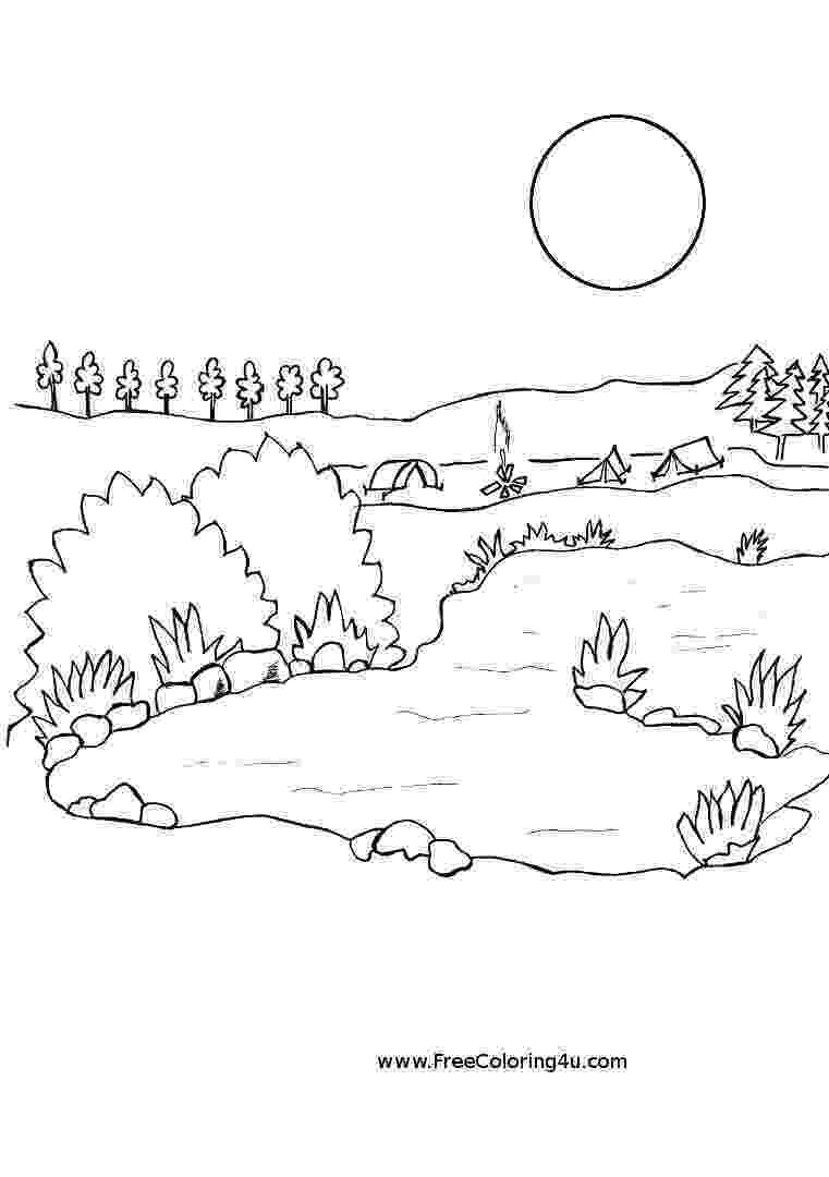 lake coloring page lake coloring page twisty noodle coloring page lake