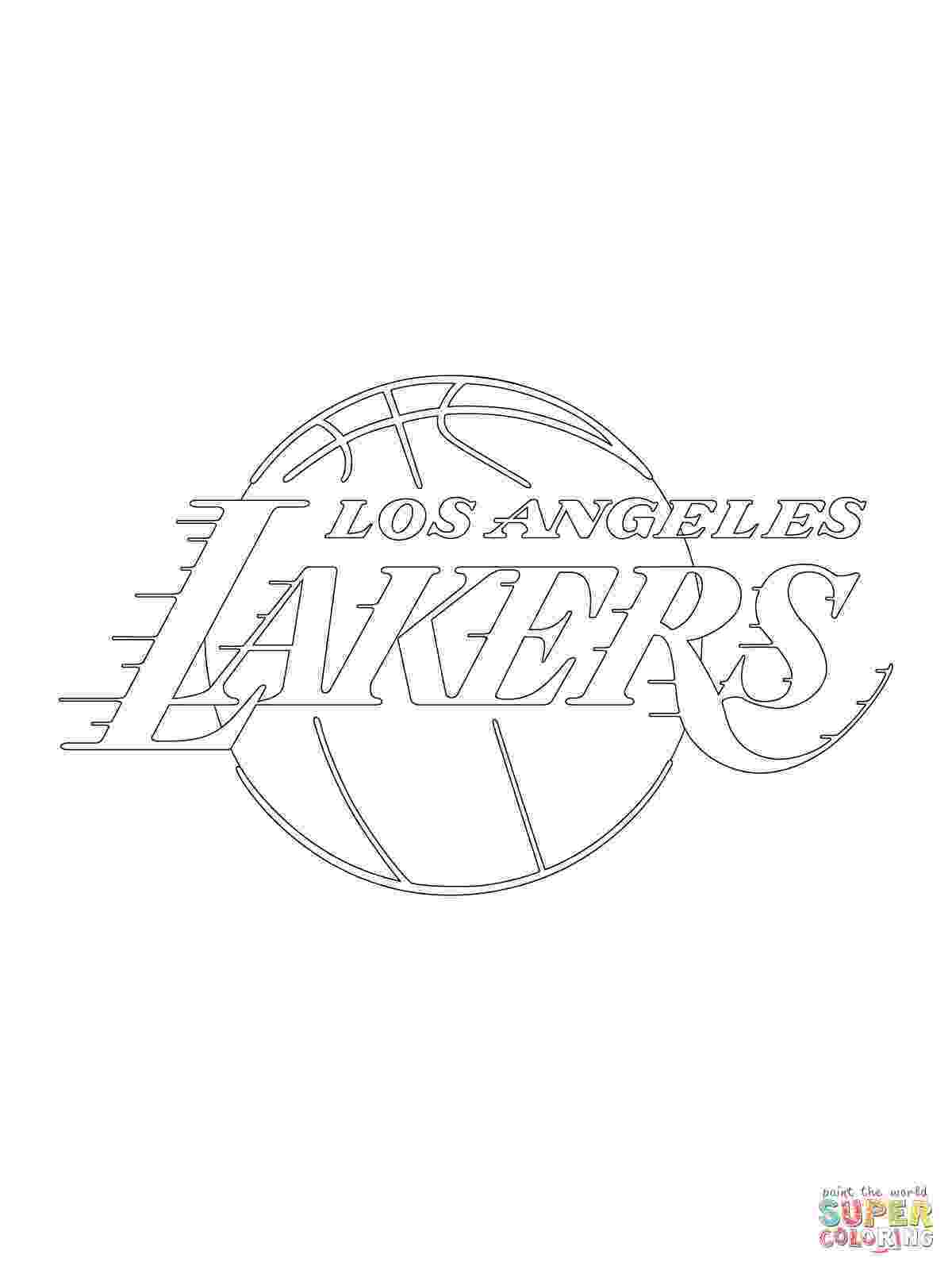 lakers coloring pages lakers logo drawing at getdrawingscom free for personal coloring lakers pages