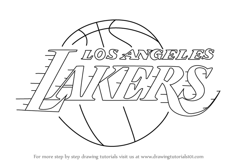 lakers coloring pages los angeles lakers logo coloring page free printable coloring pages lakers
