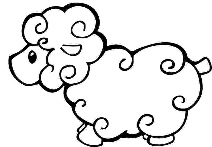 lamb coloring sheet cute animal sheeps coloring pages sheet coloring lamb