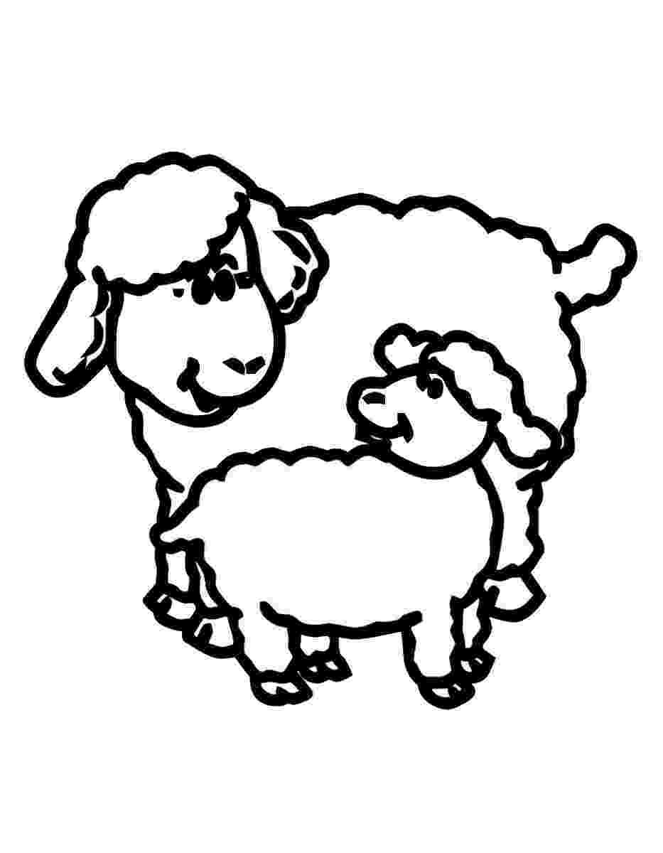 lamb coloring sheet free printable sheep coloring pages for kids lamb coloring sheet 1 1