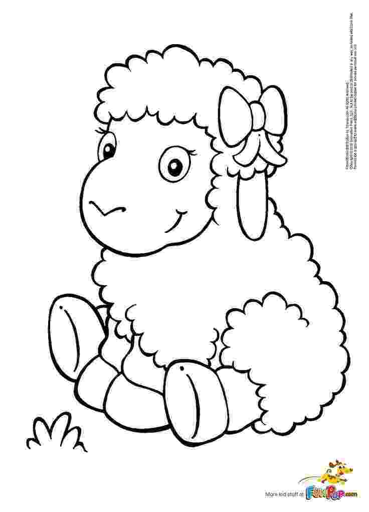 lamb coloring sheet inkspired musings mary had a little lamb nursery rhyme fun sheet coloring lamb