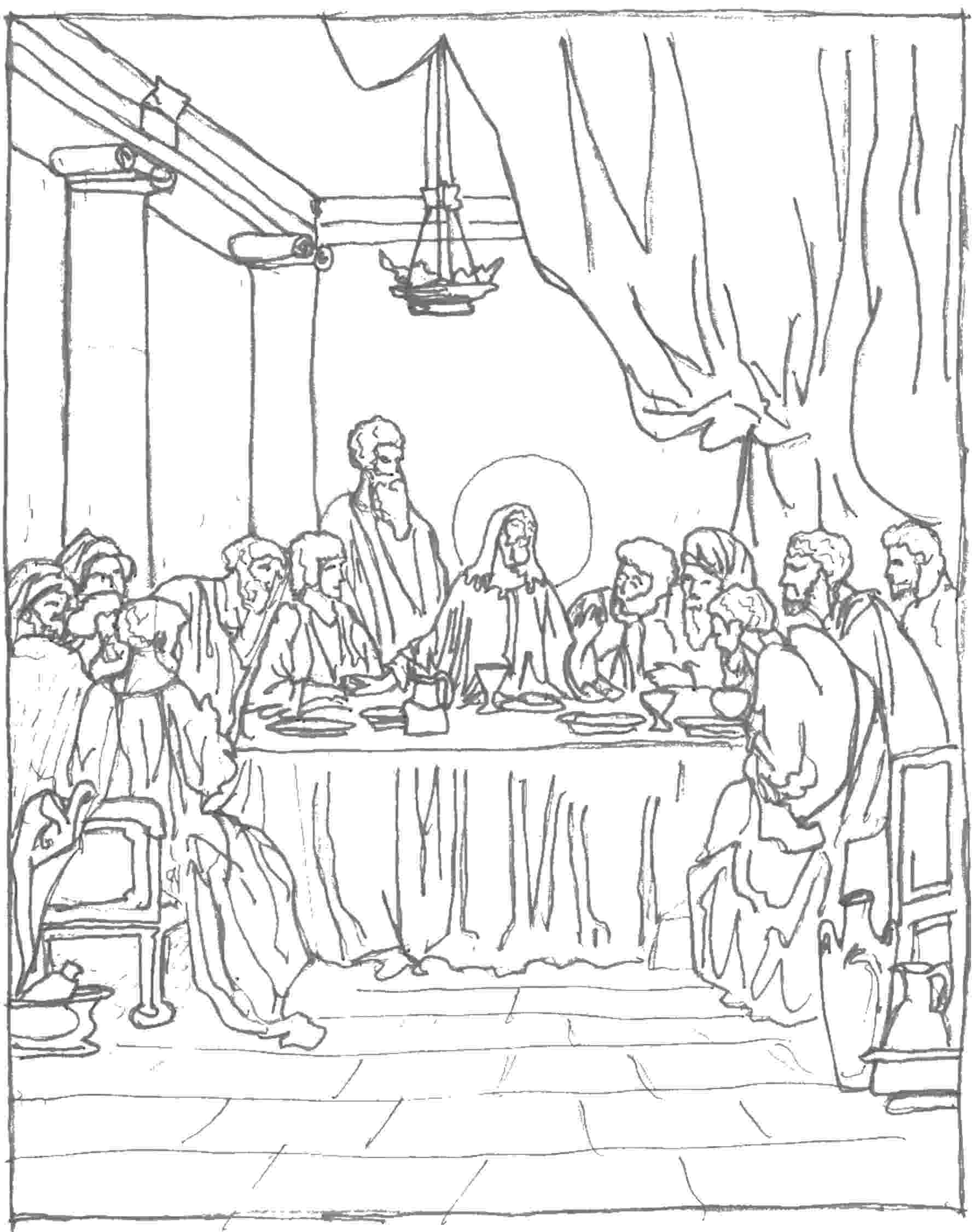 last supper coloring page the last supper bible coloring page for kids to learn last coloring supper page