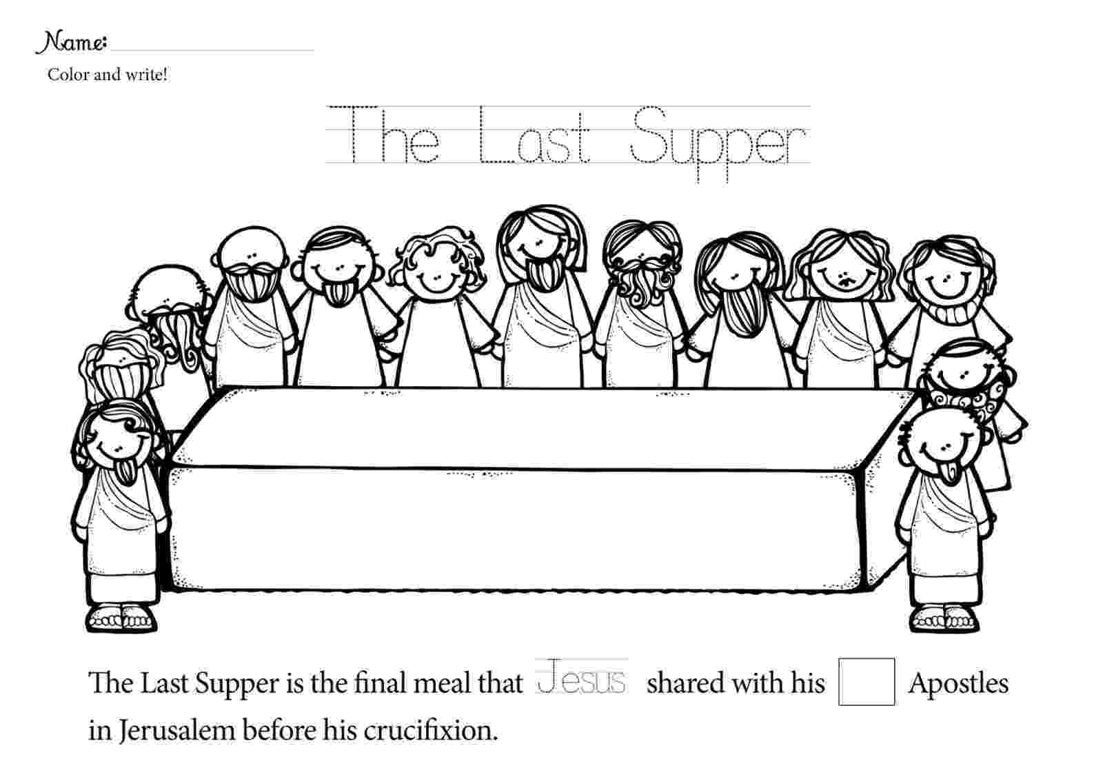 last supper coloring page the last supper bible coloring pages bible coloring supper coloring page last