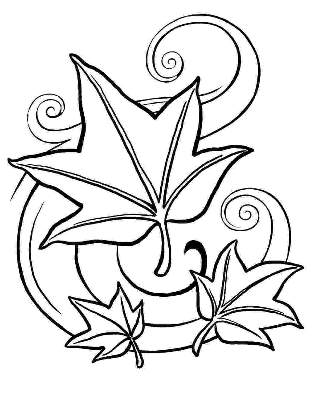 leaves coloring page five little leaves early childhood arts connection page coloring leaves