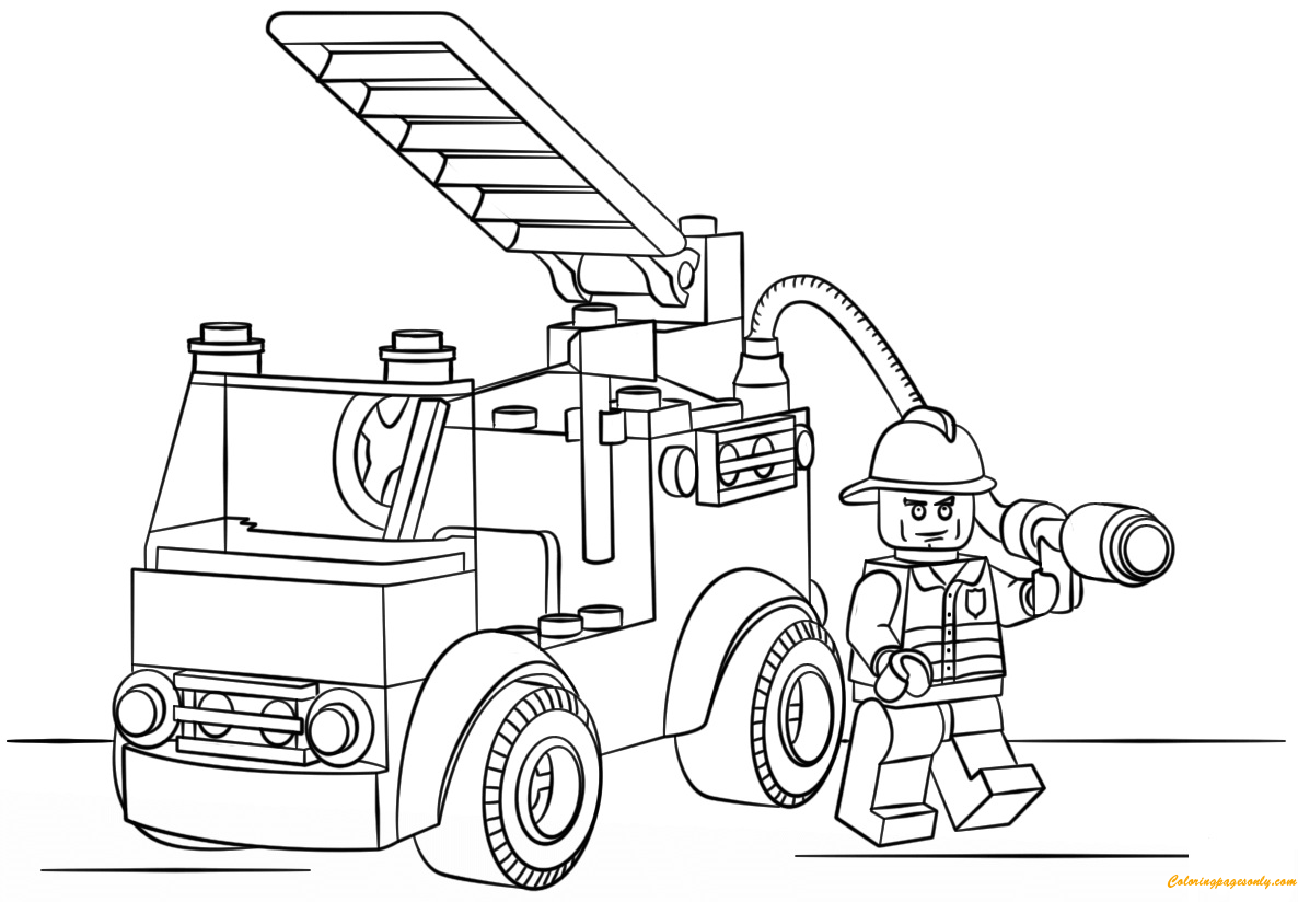 lego city coloring page lego city fire truck coloring page free coloring pages lego page coloring city