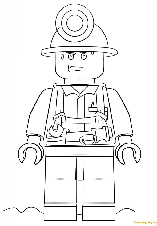 lego city coloring page lego city mini figure miner coloring page free coloring city lego coloring page
