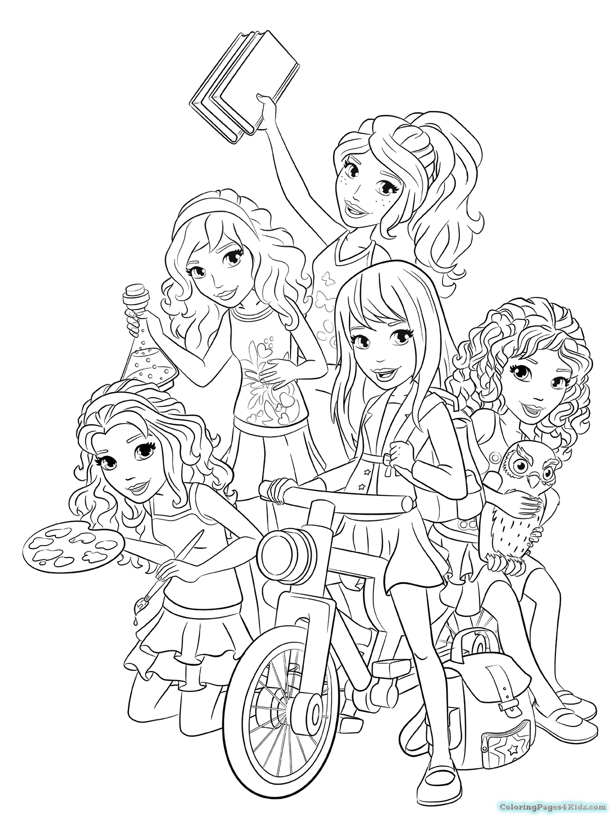 lego friends coloring pages lego friends olivia coloring page free printable friends lego pages coloring
