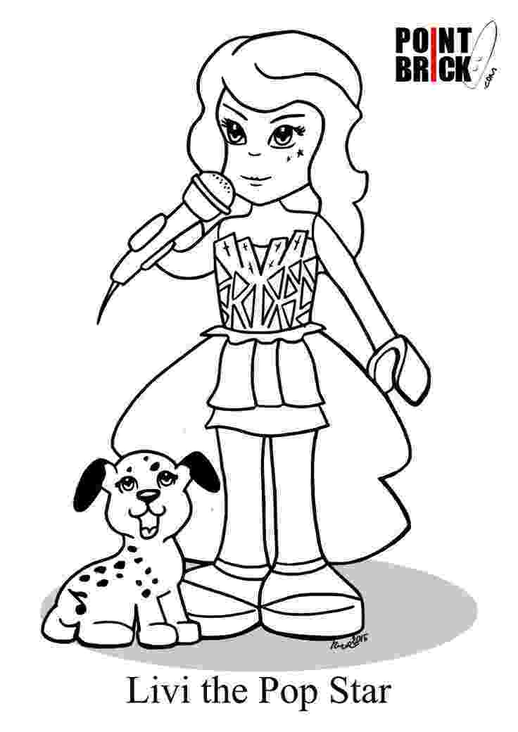lego friends printable colouring pages lego friends livi the pop star clicca sull39immagine colouring pages lego printable friends