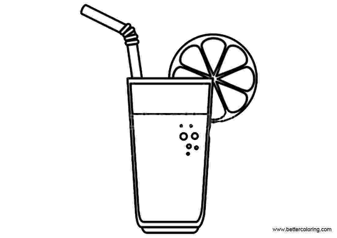 lemonade coloring page lemonade coloring pages simple drawing free printable coloring lemonade page