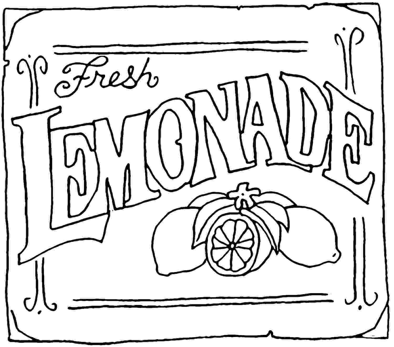 lemonade coloring page sweet treats online coloring pages page 1 coloring lemonade page